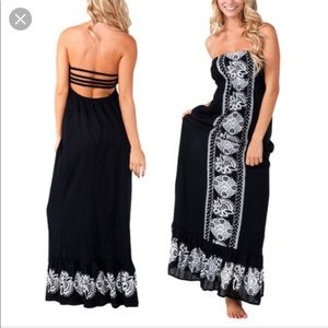 Rip curl maxi dress nwt